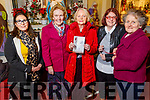 Breda Fallon, Shiela Murphy, Mary and Tara Howarth with Kathleen McAuliffe attending the monthly devotions to Padre Pio in Saints Stephen and John's Church in Castleisland on Tuesday.