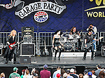 The LC Rocks band in action before the Nascar Sprint Cup Series AAA Texas 500 race at Texas Motor Speedway in Fort Worth,Texas. Sprint Cup Series driver Tony Stewart (14) wins the AAA Texas 500 race.