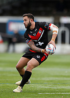 28th March 2021; Rosslyn Park, London, England; Betfred Challenge Cup, Rugby League, London Broncos versus York City Knights; Romain Navarrete of London Broncos passes the ball