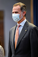 OVIEDO, SPAIN - OCTOBER 16: King Felipe VI of Spain attends an audience to congratulate the winners at the Reconquista Hotel during the 'Princesa De Asturias' Awards 2020 on October 16, 2020 in Oviedo, Spain. <br /> CAP/MPI/RJO<br /> ©RJO/MPI/Capital Pictures