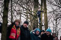 young fan high up<br /> <br /> Women Elite Race<br /> UCI CX Worlds 2018<br /> Valkenburg - The Netherlands