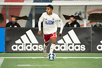 FOXBOROUGH, MA - OCTOBER 16: Gibran Rayo #14 of North Texas SC during a game between North Texas SC and New England Revolution II at Gillette Stadium on October 16, 2020 in Foxborough, Massachusetts.