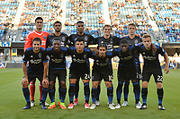 San Jose, CA - Monday July 10, 2017: San Jose Earthquakes Starting Eleven prior to a U.S. Open Cup quarterfinal match between the San Jose Earthquakes and the Los Angeles Galaxy at Avaya Stadium.