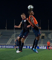 Perry Kitchen and Juan Agudelo. U.S. Under-17 Men Training in Kano, Nigeria.