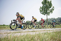 breakaway group over 'De Varent' cobbles<br /> <br /> 72nd Halle - Ingooigem 2019 (BEL/1.1)<br /> 1 day race from Halle to Ingooigem (201km)<br /> <br /> ©kramon
