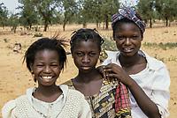 Niamey, Niger.  Three Nigerien Young Women.