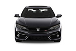 Car photography straight front view of a 2020 Honda Civic-Si-Sedan Si 4 Door Sedan Front View