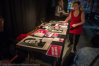 The Abortion Rights campaign hosts BEYOND THE BACKSTREET at Rich Mix in East London. An event of rallys and worshops to mark 50 years since the abortion act of 1967. 28-10-17