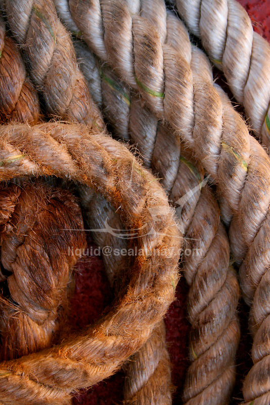 Rope on a ferry.