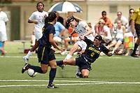 SAN ANTONIO, TX - SEPTEMBER 2, 2012: The Kent State University Golden Flashes versus the University of Texas at San Antonio Roadrunners Women's Soccer at the UTSA Recreational Sports Complex. (Photo by Jeff Huehn)