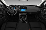 Stock photo of straight dashboard view of 2017 Jaguar XE - 4 Door Sedan Dashboard