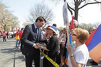 Justin Trudeau<br /> rencontre differents leader religieux lots d'un rassemblement contre les genocides, le 3 mai 2015<br /> <br /> <br /> <br /> PHOTO :   Agence Quebec Presse