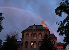 Rainbow over the Main Building..Photo by Matt Cashore..All rights reserved.  No usage without proper authorization and/or compensation...To contact Matt Cashore:.cashore1@michiana.org.574-220-7288.574-233-6124.www.mattcashore.com..
