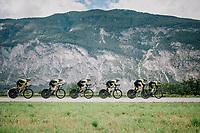 Team Mitchelton-Scott<br /> <br /> UCI MEN'S TEAM TIME TRIAL<br /> Ötztal to Innsbruck: 62.8 km<br /> <br /> UCI 2018 Road World Championships<br /> Innsbruck - Tirol / Austria