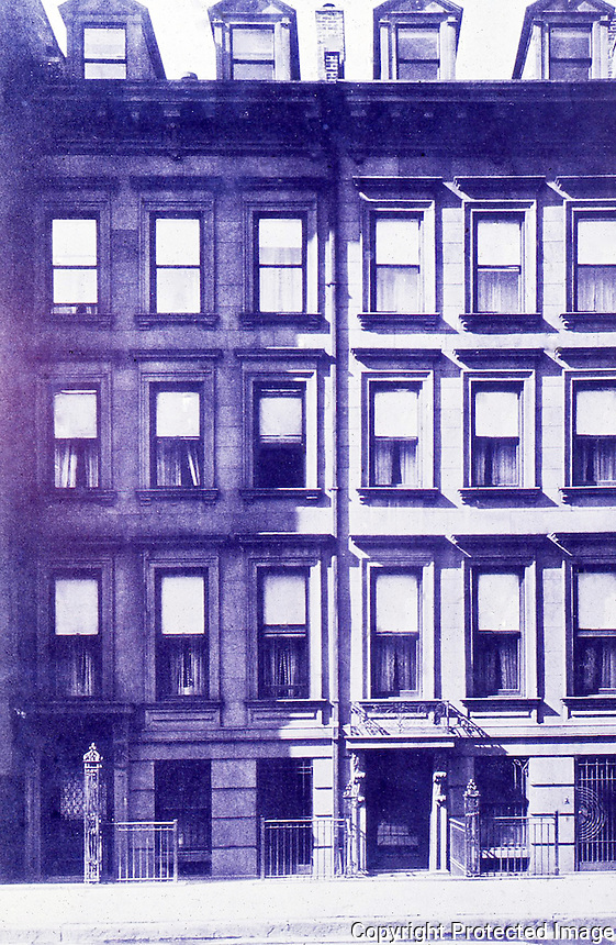 New York History:  Brownstones, 1830's.  Silver, LOST NEW YORK, p. 137.  Photo '77.