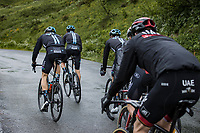 Tiesj Benoot (BEL/DSM), group leading a group with teammates up the Cormet de Roselend<br /> <br /> Stage 9 from Cluses to Tignes (144.9km)<br /> 108th Tour de France 2021 (2.UWT)<br /> <br /> ©kramon