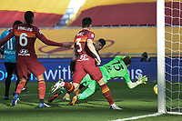 Roberto Piccoli of Spezia scores  the 1-1 goal  during the Serie A football match between AS Roma and AC Spezia at Olimpico stadium in Roma (Italy), Jannuary 23th, 2021. Photo Antonietta Baldassarre / Insidefoto