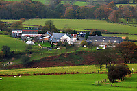 A farm in Llangammarch Wells, Powys, Wales, UK