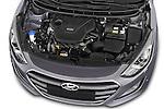 Car stock 2015 Hyundai I30 Joy 5 Door Hatchback engine high angle detail view
