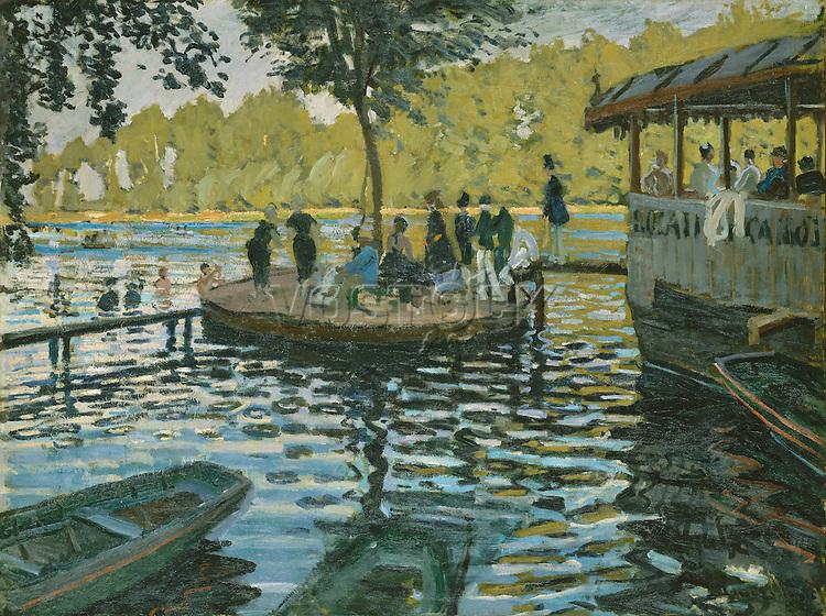 Claude Monet - La Grenouillere (1869). New-York, The Metropolitan Museum of Art.