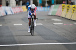 Thibaut Pinot (FRA) Groupama-FDJ in action during Stage 4 of the 78th edition of Paris-Nice 2020, and individual time trial running 15.1km around Saint-Amand-Montrond, France. 11th March 2020.<br /> Picture: ASO/Fabien Boukla | Cyclefile<br /> All photos usage must carry mandatory copyright credit (© Cyclefile | ASO/Fabien Boukla)