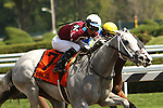 August 15 2015: Just Wicked with Jose Ortiz win the Grade II Adirondack Stakes for 2-year old fillies, going 6 1/2 furlong at Saratoga Racetrack.  Trainer Steve Asmussen. Owner Ron Winchell . Sue Kawczynski/ESW/CSM