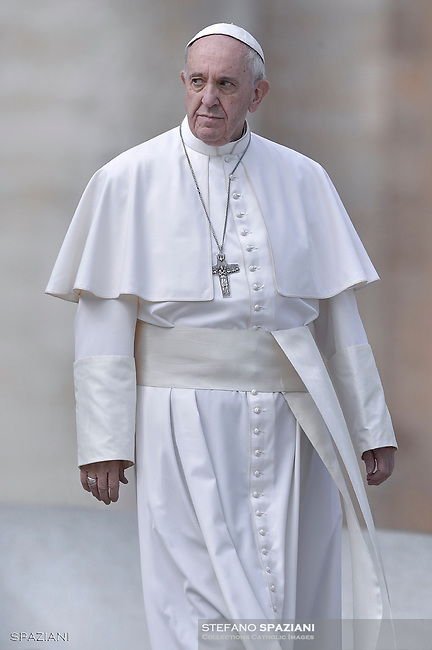 Pope Francis during of a weekly general audience at St Peter's square in Vatican. March 15, 2017