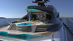 WITH VIDEO<br /> <br /> Pictured:  The different pools<br /> <br /> A team of designers have revealed their incredible new £450 million mega-yacht concept inspired by Roman architecture.  The 501ft (153m) long 'Prodigium' has pools on three different levels and on the top deck the lounge area is surrounded by impressive marble columns.<br /> <br /> The palatial vessel combines the civilised ancient design with modern 'toys' and luxuries and has room for three helicopters and eight jet skis.  With its 34 meter width the unique and stylish yacht is also the widest boat ever conceived but is still capable of reaching a crushing speed of around 22 knots.  SEE OUR COPY FOR DETAILS.<br /> <br /> Please byline: Lazzarini Design Studio/Solent News<br /> <br /> © Lazzarini Design Studio/Solent News & Photo Agency<br /> UK +44 (0) 2380 458800