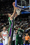 Unicaja´s Vladimir Golubovic during 2014-15 Liga Endesa match between Real Madrid and Unicaja at Palacio de los Deportes stadium in Madrid, Spain. April 30, 2015. (ALTERPHOTOS/Luis Fernandez)