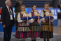 SPEEDSKATING: 22-11-2019 Tomaszów Mazowiecki (POL), ISU World Cup Arena Lodowa, Podium Ceremony, ©photo Martin de Jong