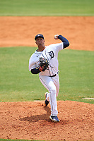 Detroit Tigers pitcher Rodolfo Fajardo (49) during an Extended Spring Training game against the New York Yankees on June 19, 2021 at Tigertown in Lakeland, Florida.  (Mike Janes/Four Seam Images)