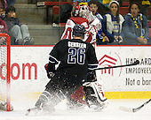 Brett Gensler (Bentley - 26), Raphael Girard (Harvard - 30) - The Harvard University Crimson defeated the visiting Bentley University Falcons 5-0 on Saturday, October 27, 2012, at Bright Hockey Center in Boston, Massachusetts.