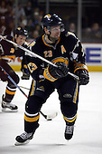 February 17th 2007:  Chris Drury (23) of the Buffalo Sabres looks for the puck vs. the Boston Bruins at HSBC Arena in Buffalo, NY.  The Bruins defeated the Sabres 4-3 in a shootout.
