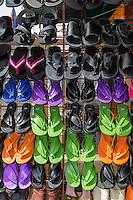Senegal, Saint Louis.  Sandals, Flipflops, for Sale at a Shop at Saint Louis's Bus and Taxi Station.