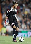 Deportivo de La Coruna's Daniel Aranzubia with during La Liga match. September 30, 2012. (ALTERPHOTOS/Alvaro Hernandez).