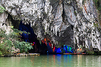 China, Guizhou, Dragon Palace Scenic Area.  Entrance to the Underground Cavern.