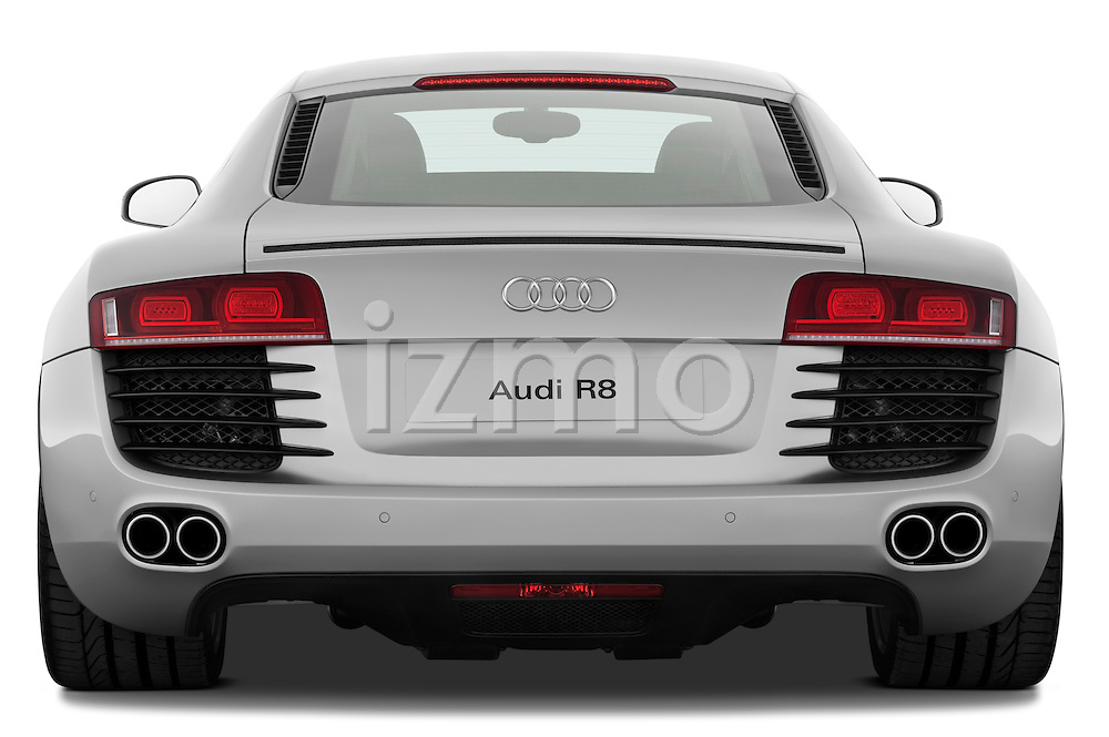 Straight rear view of a 2008 - 2012 Audi R8 V8 FSI Coupe.