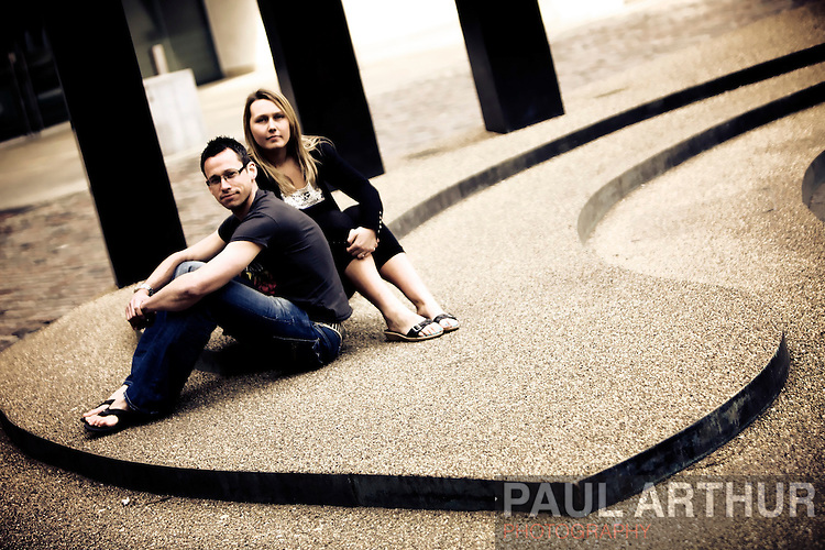 Simon and Stephanie, family portrait
