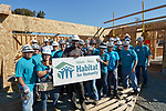Habitat For Humanity partners with Valero sponsored volunteers on a Vallejo, CA home site.<br />