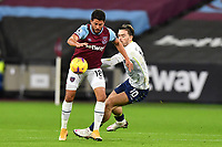 Pablo Fornals of West Ham United and Jack Grealish of Aston Villa during West Ham United vs Aston Villa, Premier League Football at The London Stadium on 30th November 2020