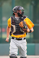 GCL Pirates catcher Dylan Child #30 during a game against the GCL Braves at Disney Wide World of Sports on June 25, 2011 in Kissimmee, Florida.  The Pirates defeated the Braves 5-4 in ten innings.  (Mike Janes/Four Seam Images)