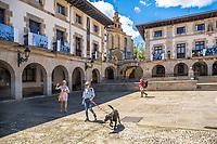 Foru Square. Gernika - Lumo. [Urdaibai biosphere reserve]. Urdaibai Region. Bizkaia. Basque Country. Spain.