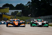 #9: Scott Dixon, Chip Ganassi Racing Honda and #88: Colton Herta, Andretti Harding Steinbrenner Autosport Honda