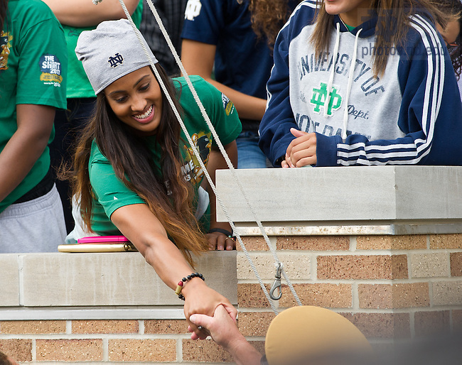 Sept. 21, 2013; Former Notre Dame Women's Basketball and current WNBA player Skylar Diggins returned to campus for the Michigan State game.<br /> <br /> Photo by Matt Cashore