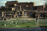 TAOS PUEBLO: ON THE PATH TO WATER <br /> FOR CENTURIES, RESIDENTS OF THE TAOS PUEBLO HAVE TAKEN THEIR WATER FROM THE RIO GRANDE RIVER EACH MORNING, AFTERNOON AND NIGHT.