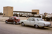 Kuwait October 1966.  Water Station, Where Water Tankers Fill up to Deliver to Private Residences, before the existence of a piped water system to residential areas.