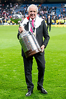 River Plate president Rodolfo D'Onofrio posing with Championship cup after Commebol Final Match between River Plate and Boca Juniors at Santiago Bernabeu Stadium in Madrid, Spain. December 09, 2018. (ALTERPHOTOS/Borja B.Hojas) /NortePhoto.com
