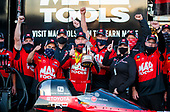 Doug Kalitta, top fuel, Mac Tools, crew, celebration, victory, trophy