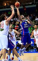Milos Teodosicduring round 2, group E, basketball game between Spain and Serbia in Vilnius, Lithuania, Eurobasket 2011, Friday, September 9, 2011. (photo: Pedja Milosavljevic)