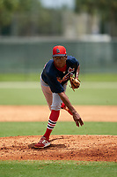 GCL Cardinals pitcher Ludwin Jimenez (38) during a Gulf Coast League game against the GCL Marlins on August 12, 2019 at the Roger Dean Chevrolet Stadium Complex in Jupiter, Florida.  GCL Marlins defeated the GCL Cardinals 9-2.  (Mike Janes/Four Seam Images)